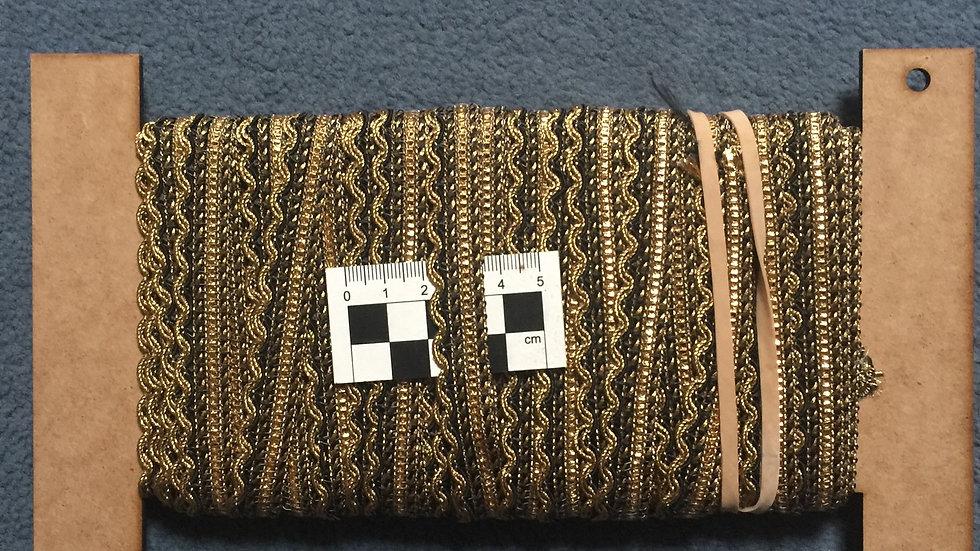 Black & Gold Braid Trim