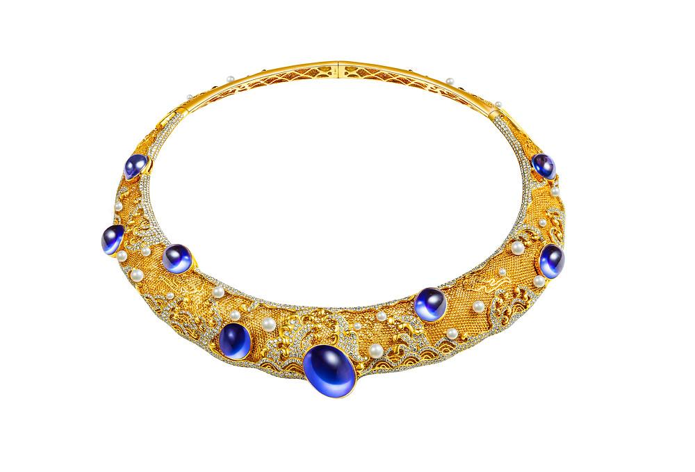 C fine jewellery, know-how, imperial, necklace, tanzanite, gold, diamonds