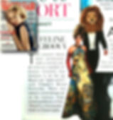 vaity fair UK editorial about alexadra mas painting dress