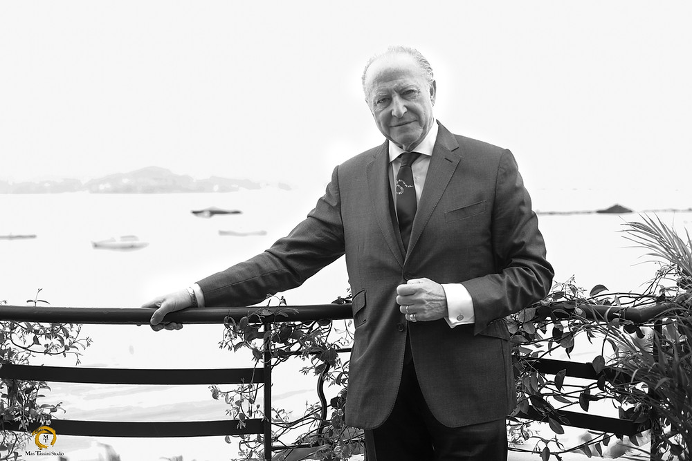 perfume creator Alberto Morillas on the Chopard terasse in Cannes