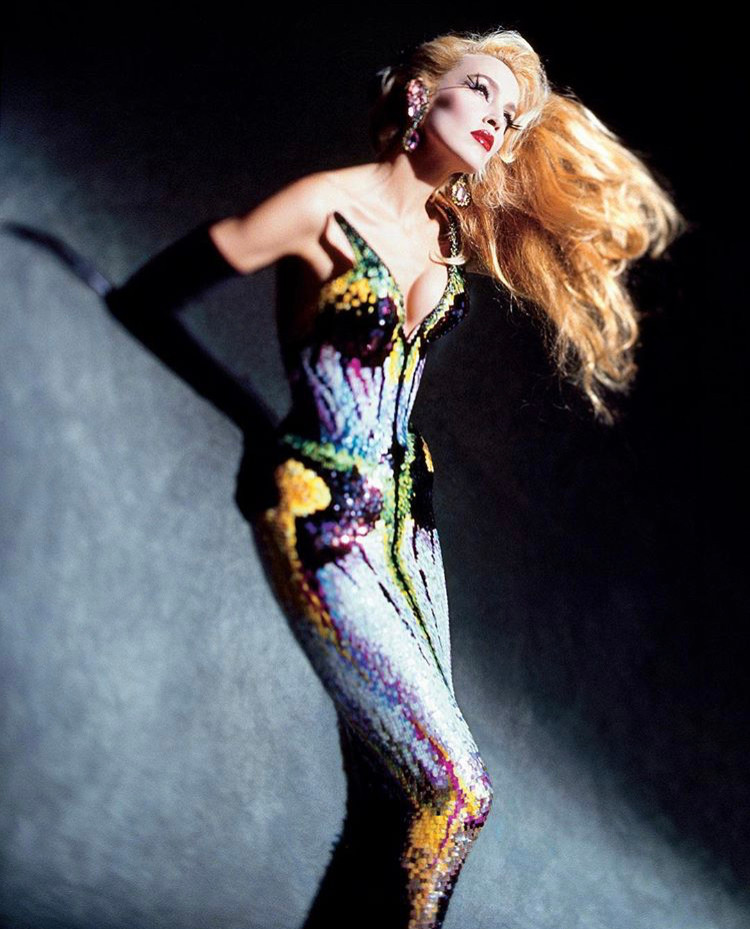 Fashion, Thierry Mugler,haute couture, Montreal Museum of Fine Arts, Jerry Hall, Issermann,