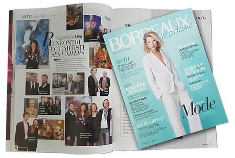 editorial page about alexandra mas private viewing in bordeaux