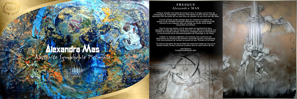 editorial in close up magazine about a fresco by alexandra mas
