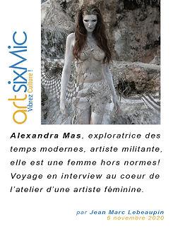 interview, artsixmic, alexandra mas