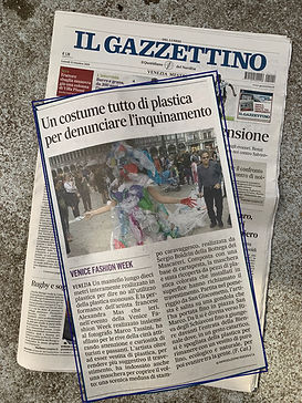 article, il gazzettino, alexandra mas, venezia, biennale, performance