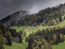 Swiss-French border countryside near Ste-Croix, Switzerland