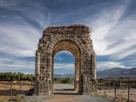Ruined Roman town of Caparra, Via de La Plata, Spain