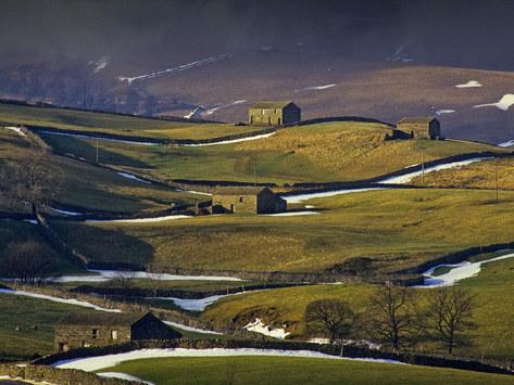 Barns near Hawes, Wensleydale
