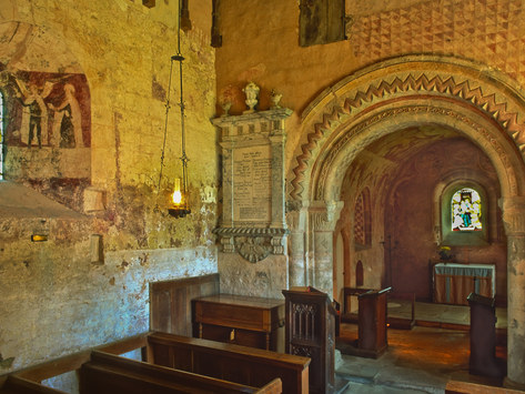 St Mary's Church (12th C), Kempley, Gloucestershire