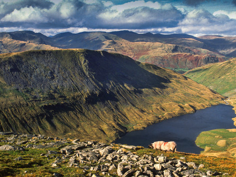 Hayeswater & the Lakeland Fells from High Street, Cumbria