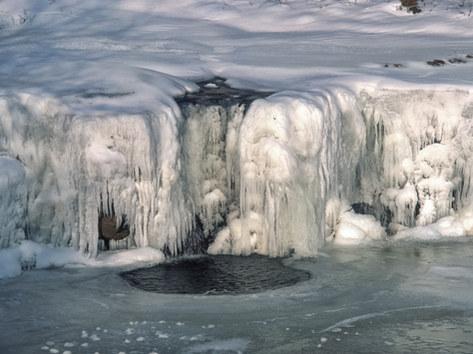 Frozen River Swale near Keld