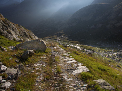 Via Francigena over the Grand St Bernard Pass, Switzerland