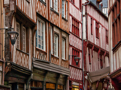 Medieval Quarter of Rouen, Normandy, France
