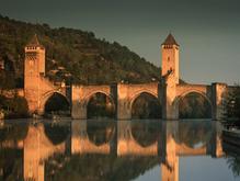 14th C Pont Valantre, River Lot, France