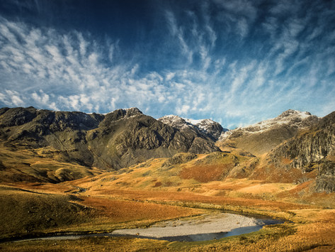 The Scafell Range from Great Moss. Cumbria