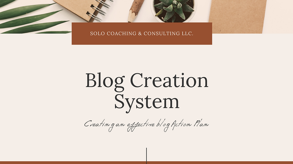 Blog Creation System
