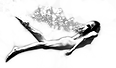 nude woman swimming underwater logo