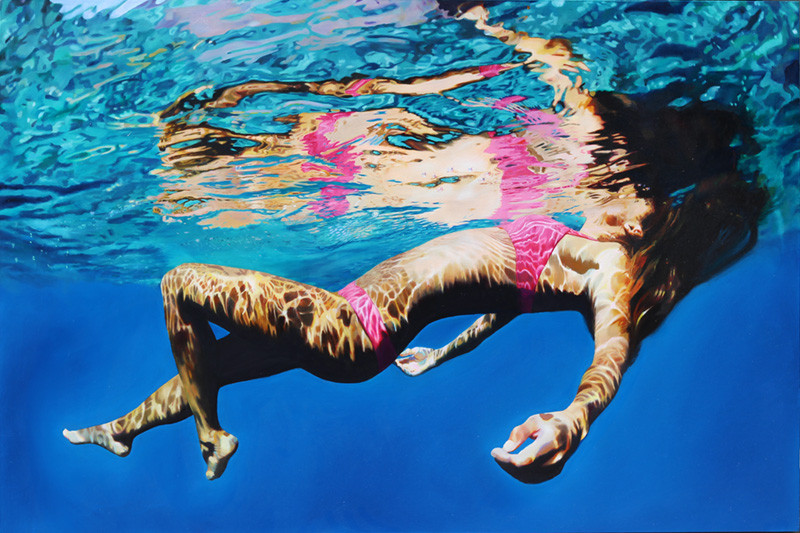 Pacific Dream Floating Painting by Matt Story