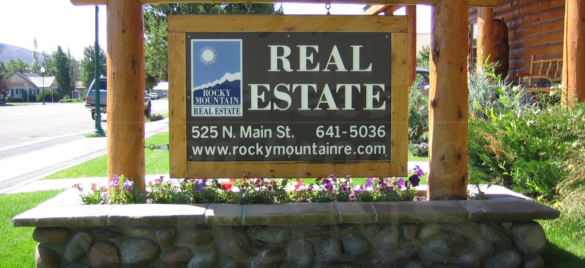 Custom Framing and Logs for a Real Estate Sign 