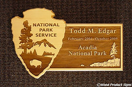retirement plaque