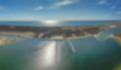 Aerial picture of Long Island beach taken with a drone