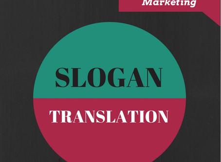 Slogan translation – A matter for experts