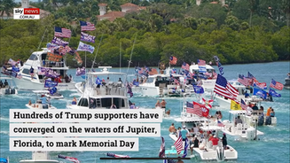 📺 Thousands of Boats Converge in Jupiter For Trump Memorial Day Parade