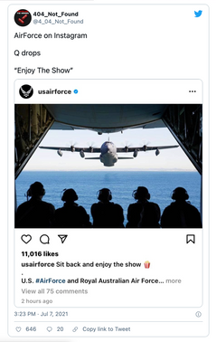 """Patriots In Control? Air Force Posts """"Enjoy The Show 🍿"""""""
