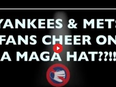 🎥 YANKEES & METS FANS UNITE TO CHEER ON A MAGA HAT