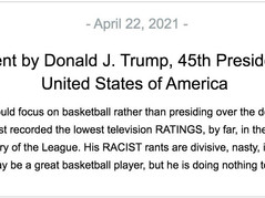 Donald Trump Destroys Lakers star for 'racist rants' in press release