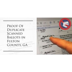 🗳 Explosive Proof Of Duplicated Ballots In Fulton County Georgia