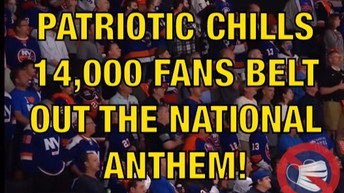 🎥 MUST SEE: CHILLS AS 14,000 HOCKEY FANS BELT OUT THE NATIONAL ANTHEM