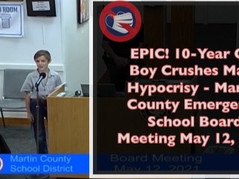 📺 Viral Video: A 10-Year Old Hero Addresses School Board & Eviscerates Mask Hypocrisy