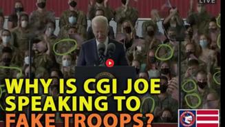 🎥 WHY IS CGI JOE BIDEN SPEAKING TO FAKE MILITARY TROOPS?