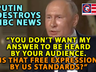 🎥Putin Crushes NBC News: 'You Don't Want My Answer Heard. Is That Free Expression By US Standards?'