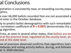 MI Statistician's Forensic Report Solves Algorithm That Shifted Millions of Trump Votes to Biden