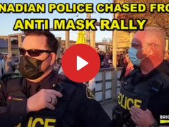 """The People Fight Back: Maskless Party Shouts Down Police, """"No More Lockdowns! 🔒 Get Out!"""""""