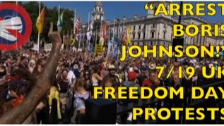 """🎥 """"ARREST BORIS JOHNSON!"""" - Londoners Surround Parliament During Huge Freedom Day Protests"""