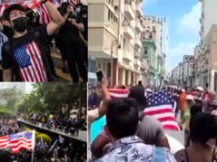 Anti-Communist Freedom Protests Across The World Have One Symbol In Common: The American Flag 🇺🇸