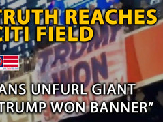"""🎥 Another Huge """"TRUMP WON"""" Banner at Citi Field - Triggered New Yorkers Assault The Man Responsible"""