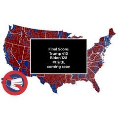 📷 Trump Won 410 Electoral Votes