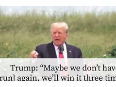 """Trump 🎥 """"Maybe We Won't Have To [Run] Again"""" For President"""