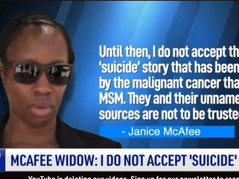 🎥 MCAFEE'S WIDOW DOES NOT ACCEPT SUICIDE NARRATIVE