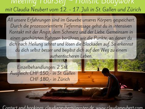 Deep Bodywork in Switzerland in July