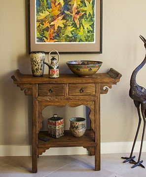A collection of Cathra-Anne's pots including Mixed Veg Bowl and Eyes of Texas Teapot