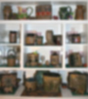 An extensive collection of Cathra-Anne's work in LeeAnn's Texas home
