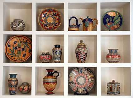 Don's collection includes Richard's Cappadocia Bowl and Cathra-Anne's Mixed Veggie Platter