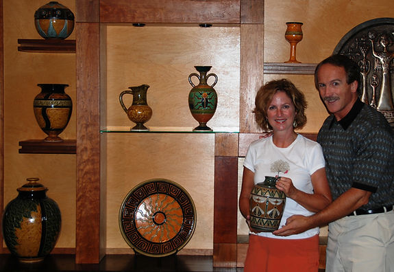 Richard and Cathra-Anne's work with Kentucky collectors Gary & Nita
