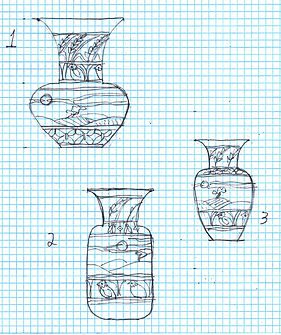 Cathra-Anne's sketches for the collaborative pot