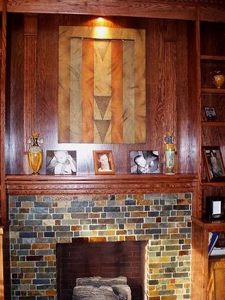 Richard's work on Allison and Jeffrey's mantel